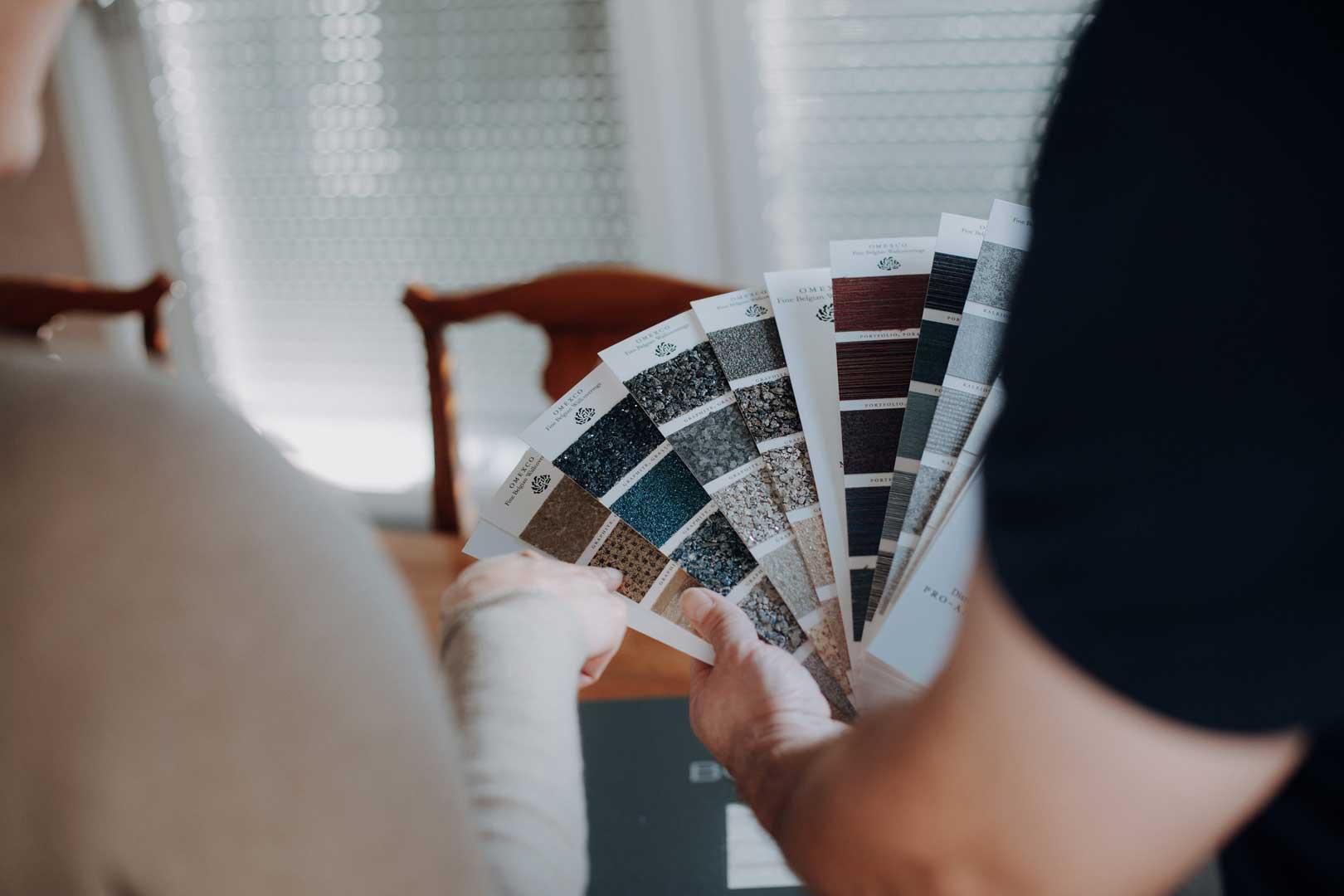 Farbmuster für Eindruck